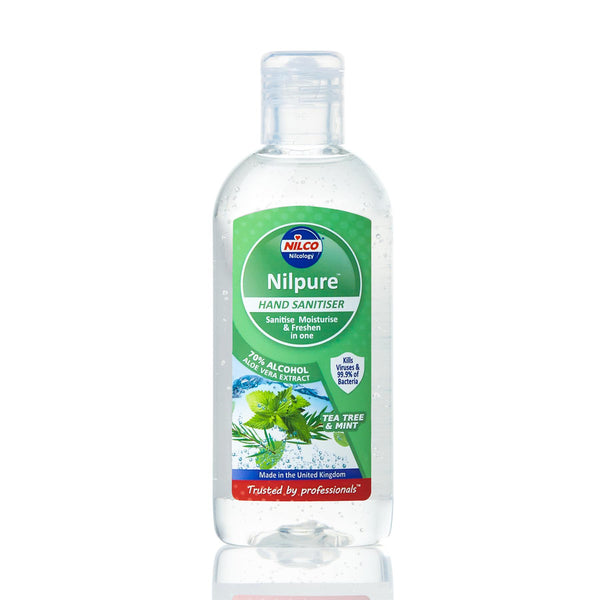 Nilco Nilpure Moisturising Fragranced Tea Tree and Mint Scented Hand Sanitiser -100ml