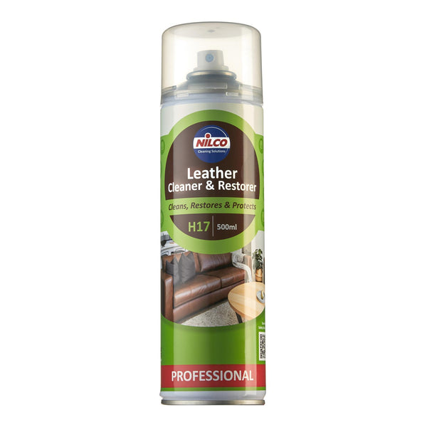 Nilco H17 Leather Cleaner & Restorer Spray - 500ml | Case of 6 | 6.74 Each