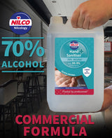 Nilco No-Touch Hand Sanitising Station floor stand with 20L Nilco Hand Sanitiser 70% Alcohol refill.