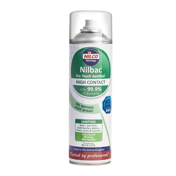 Nilco Dry Touch High Contact Sanitiser - 500ml 2 Pack | £7.49 Each