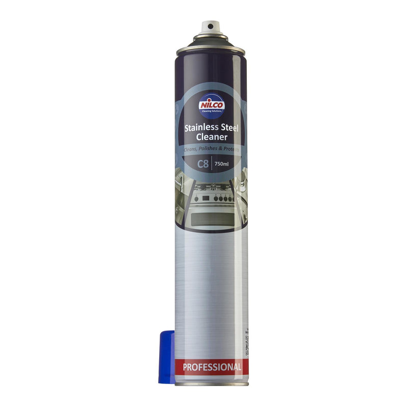 Nilco C8 Stainless Steel Cleaner - 750ml | Case of 6 | £5.53 Each