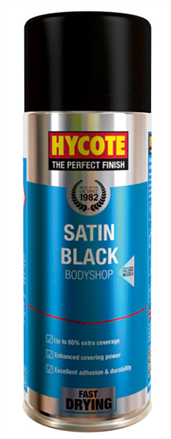 Hycote Bodyshop Satin Black Paint - 400ml