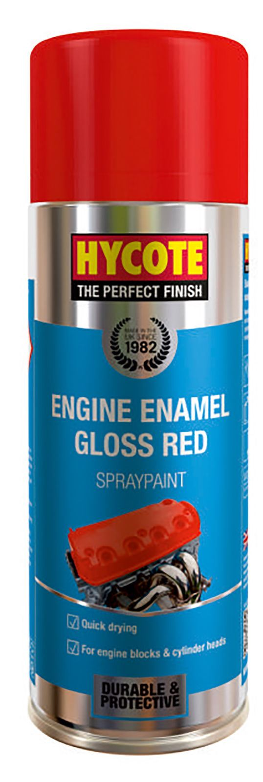 Hycote Engine Enamel Gloss Red Paint - 400ml