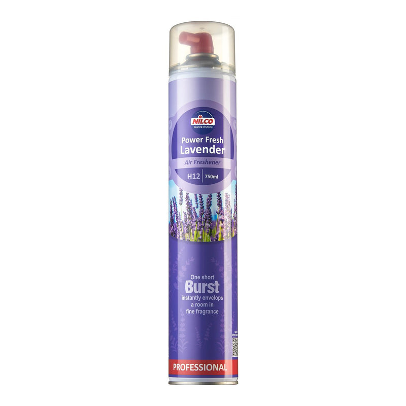 Nilco Power Fresh Lavender Aerosol Air Freshener - 750ml | Case of 6 | £6.74 Each