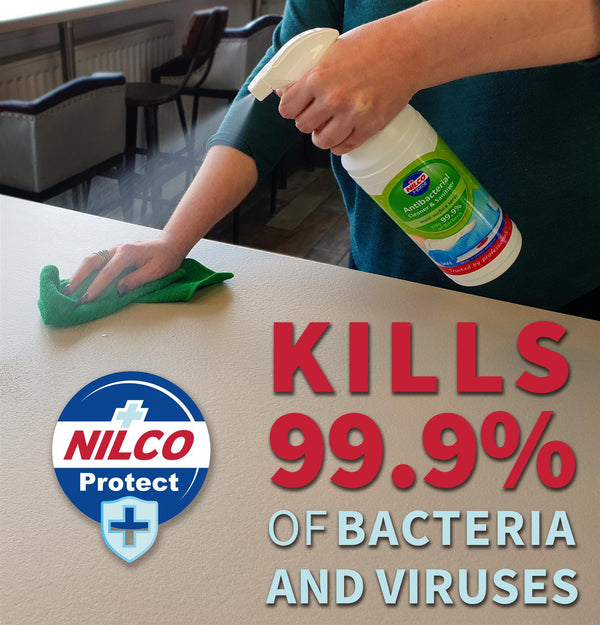 Nilco Antibacterial Cleaner And Sanitiser Multi-Surface Spray - 1L