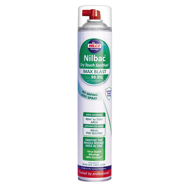 Buy One Nilbac 'Dry Touch' Max Blast Sanitiser And Get A Rockland Fast Dry Surface Sanitiser FREE - Worth £3.79