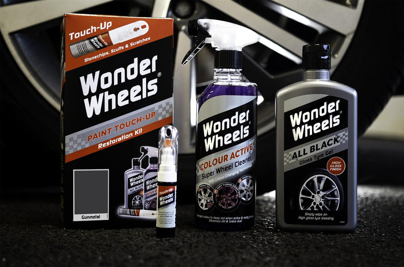 Wonder Wheels Clean & Touch Up Kit Gun Metal Grey