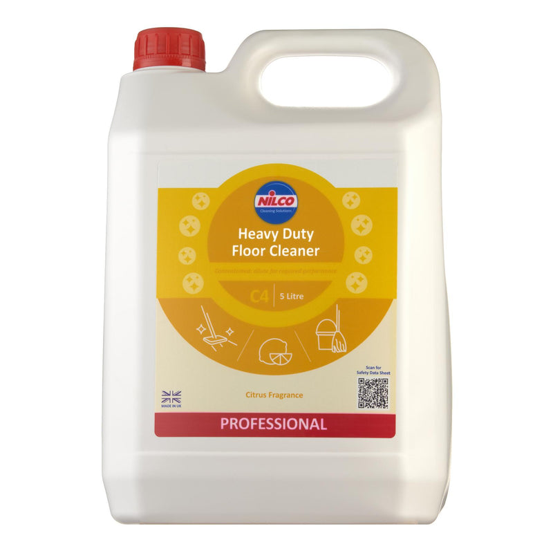 Nilco C4 Heavy Duty Floor Cleaner - 5L | Case of 2 | £11.78 Each
