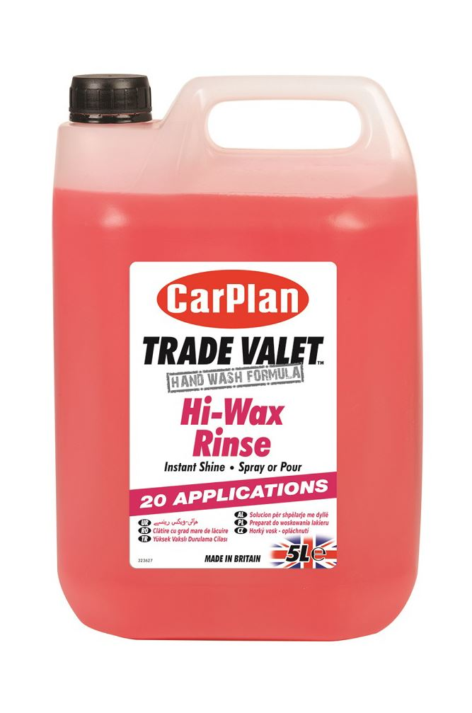 CarPlan Trade Valet Hi-Wax Rinse Top Gloss Treatment - 5L