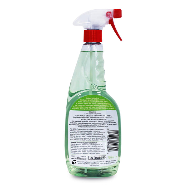 Rockland® Disinfectant Antibacterial Cleaner 750ml Multi-Surface Spray