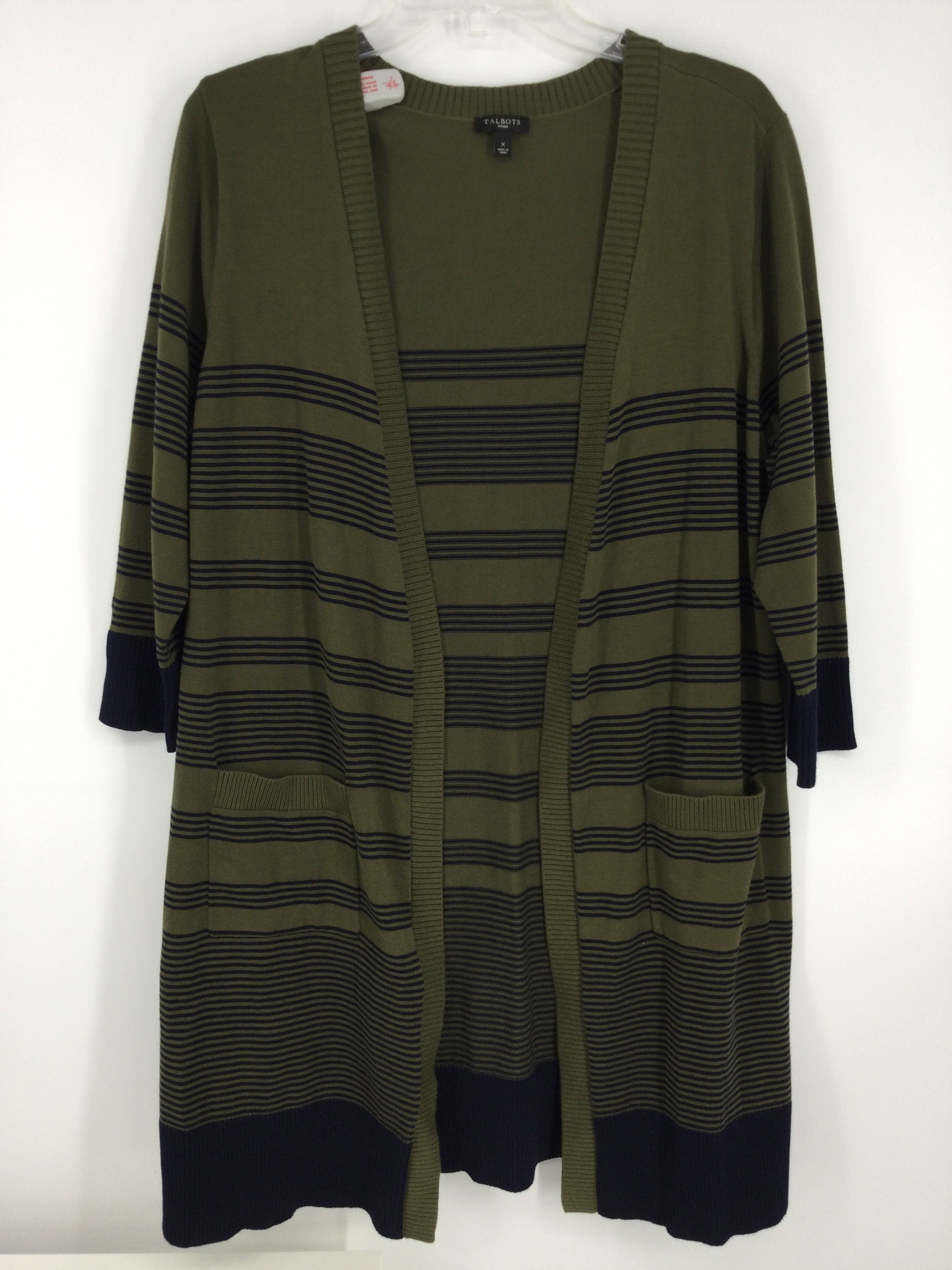 Primary Photo - Brand: TALBOTS <br>Style: SWEATER CARDIGAN LIGHTWEIGHT <br>Color: STRIPED <br>Size: XL <br>SKU: 128-3221-1861