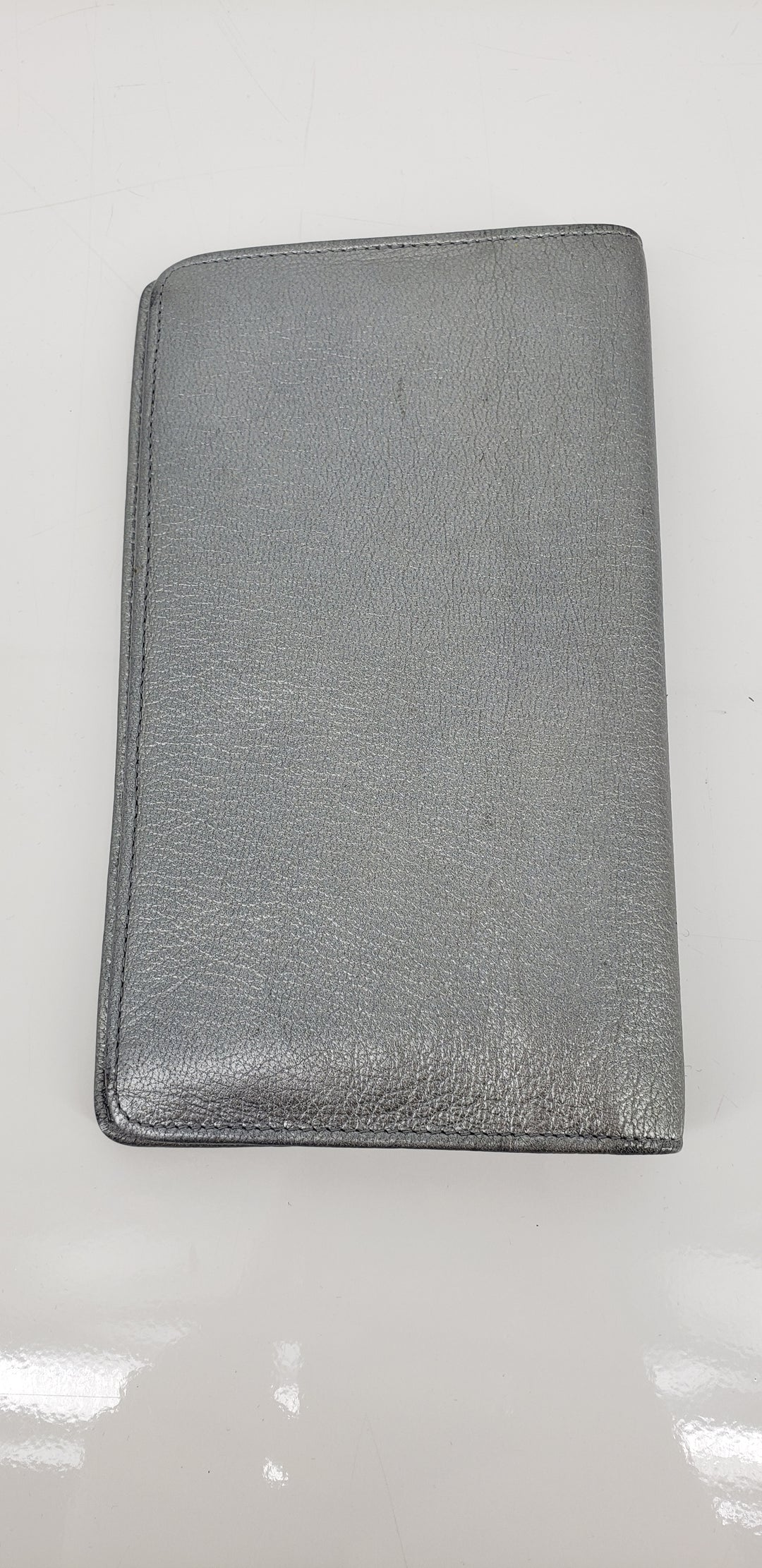 Photo #2 - 3 - brand: chanel , style: wallet , color: silver , size: medium , as is, sku: 128-4287-60694
