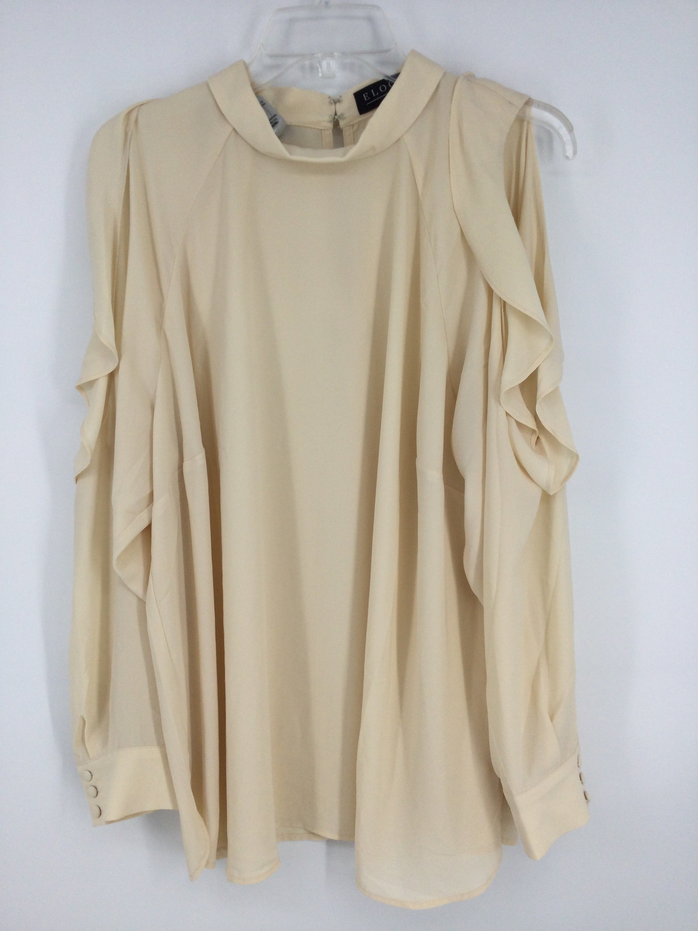 Primary Photo - Brand: ELOQUII <br>Style: TOP Long Sleeve <br>Color: PEACH <br>Size: 20 <br>Other Info: 1X <br>SKU: 128-4287-59119