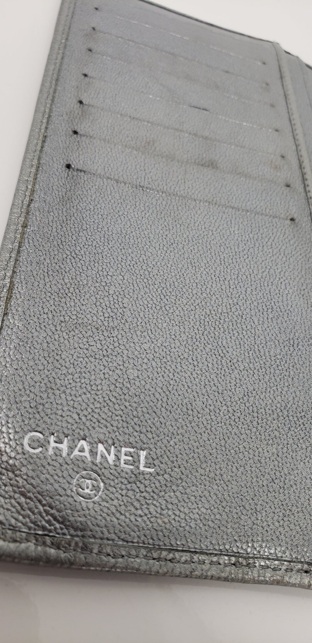 Photo #3 - 4 - brand: chanel , style: wallet , color: silver , size: medium , as is, sku: 128-4287-60694
