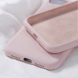 KJOEW Silicone Solid Color Case for iPhone 11 Pro Max XR X Candy Color Phone Cases for iPhone 7 6 6S 8 Plus Soft TPU Shell Cover