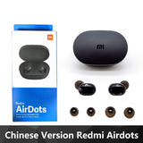 Original Xiaomi Redmi Airdots TWS Wireless Bluetooth Earphone Stereo bass Bluetooth 5.0 With Mic Handsfree AI Control for honor