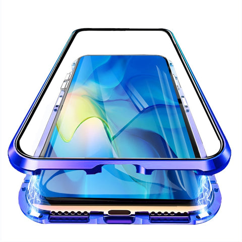 Luxury 2nd Magnetic Flip Case for Huawei Honor 9X 9XPro Front Back Double Sided Tempered Glass 360 Phone Cover Honor9X Pro Coque