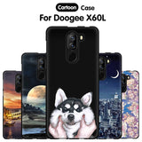 "JURCHEN Phone Case For Doogee X60L 5.5"" Case Cute Cartoon Print Silicone Soft TPU Back Cover For Doogee X60L X60 L Case Cover"