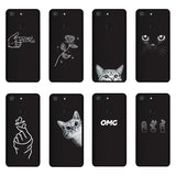 "QAQsam Soft Silicone For ZTE Blade V9 5.7"" Case Cover Painting Pattern Matte Phone Cases Flower Cat Funda"