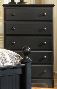 Midnight Five Drawer Chest | Carolina Furniture Works, Inc.