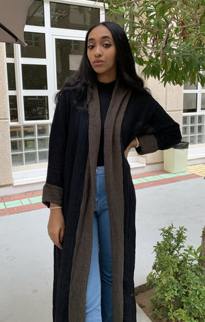 Crinkle cotton casual abaya - Online Shopping - The Untitled Project
