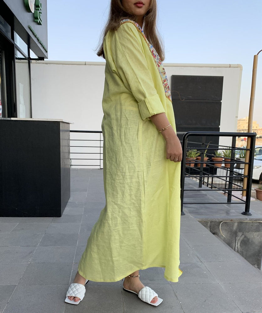 The Shinas Abaya - Eid in Luxury Linen - The Untitled Project