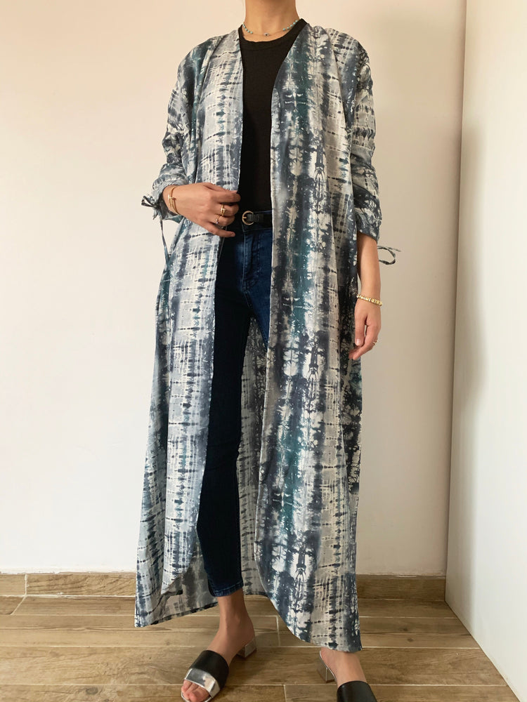 The Purely Tie Dye Abaya - Eco-Friendly fabric