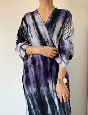 The Aries Tie-Dye abaya - Sustainable Material - The untitled project