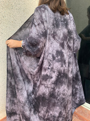The Marble Tie-Dye Abaya - Lightweight with soft feel - Online Shopping - The Untitled Project