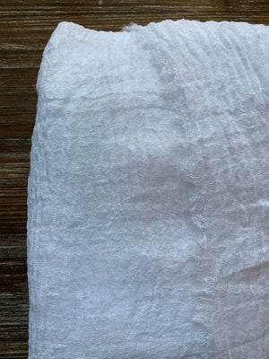 Positive White - Crinkle Organic Cotton Scarf - Online Shopping - The Untitled Project