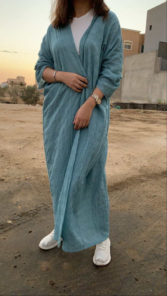 Load image into Gallery viewer, The Blue Waves Jilbab - Lightweight Breeze
