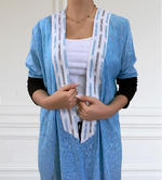 Boho IKAT patterned Abaya - Lightweight For Summer - The untitled project