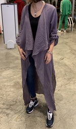 Crinkle Cardigan Abaya - Eco-Friendly For Summer