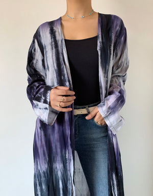 Load image into Gallery viewer, The Aries Tie-Dye abaya - Sustainable Material - The untitled project