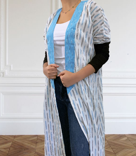 Boho IKAT patterned Abaya - Lightweight For Summer - Online Shopping - The Untitled Project