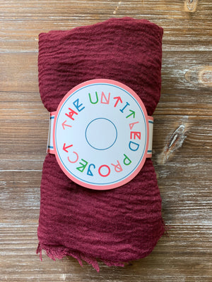 Rosewood - Crinkle Organic Cotton Scarf - Online Shopping - The Untitled Project