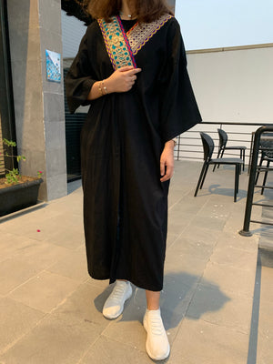 The Blossom Kimono - Linen in black - Online Shopping - The Untitled Project