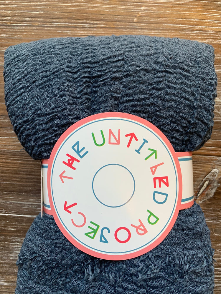Just in time - Crinkle Organic Cotton Scarf - Online Shopping - The Untitled Project