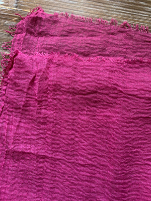 Pink Venus - Crinkle Organic Cotton Scarf - Online Shopping - The Untitled Project
