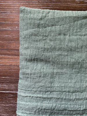 Mint - Crinkle Organic Cotton Scarf - The untitled project