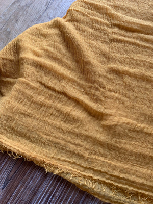 Mustard - Crinkle Organic Crinkle Scarf - Online Shopping - The Untitled Project