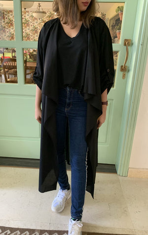 The Trend Setter - Cotton Cardigan Abaya - The untitled project