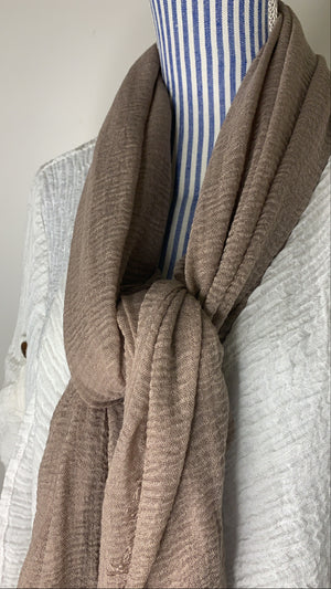 Patina - Crinkle Organic Cotton Scarf - The untitled project