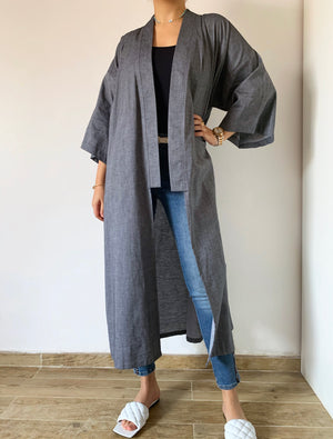 Load image into Gallery viewer, The Nepal kimono - light Jeans denim - Online Shopping - The Untitled Project