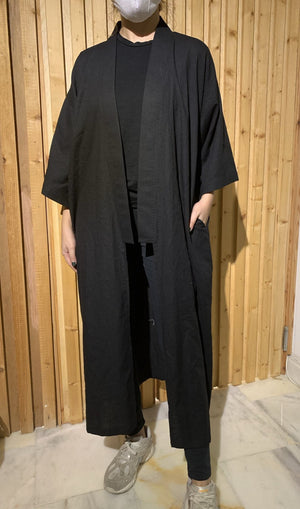 The Toki Kimono - Traditional Jet - Online Shopping - The Untitled Project