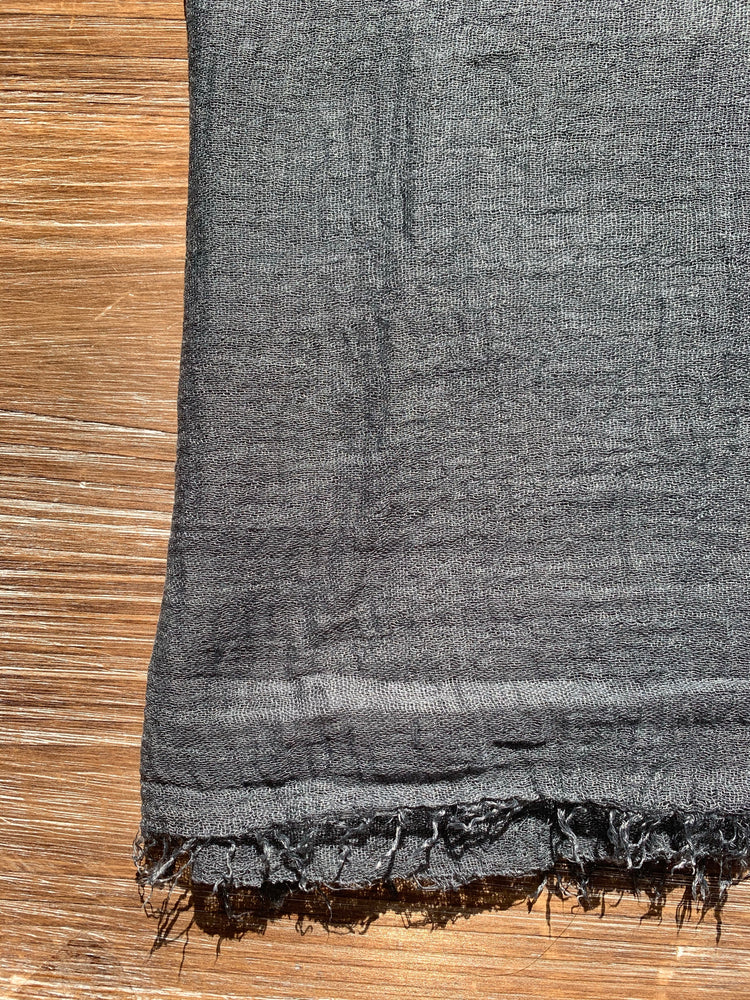 Dark Gray - Crinkle Organic Cotton Scarf - Online Shopping - The Untitled Project
