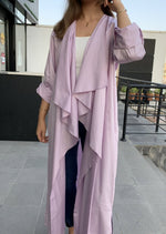 The Trend Setter - Cotton Cardigan Abaya - Online Shopping - The Untitled Project