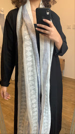 Stylish black scarfed abaya