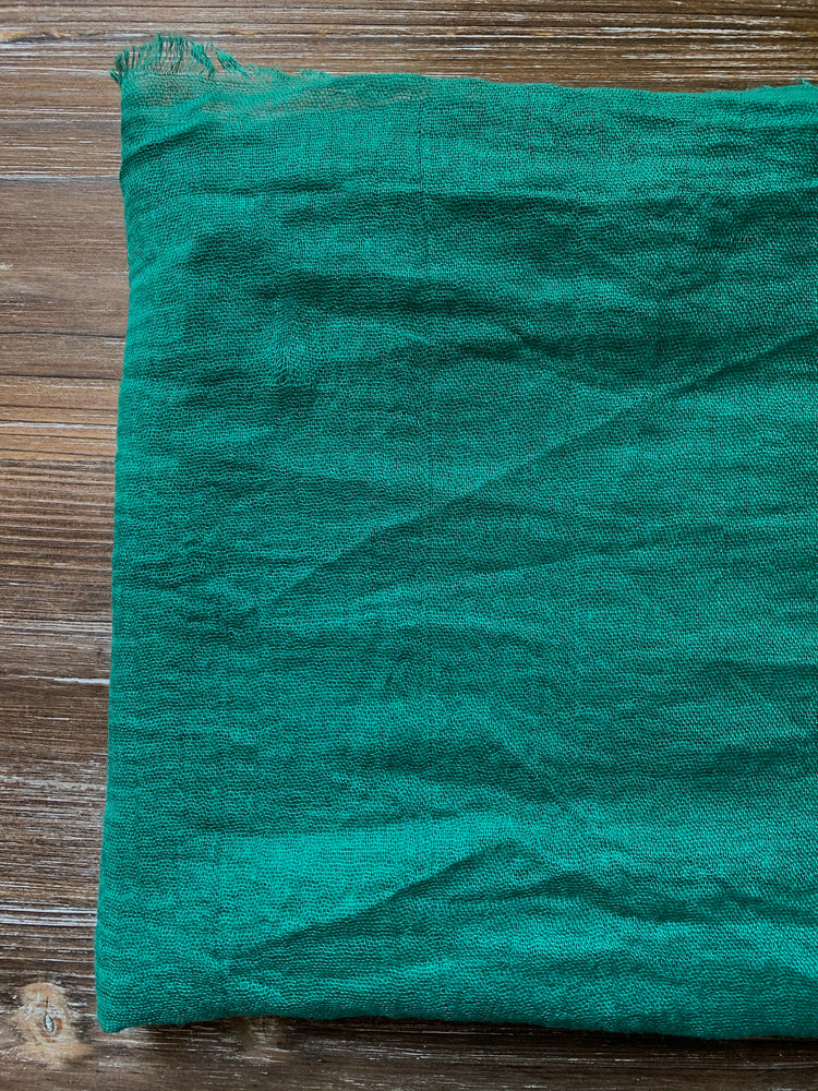 Load image into Gallery viewer, Lucky Green - Crinkle Organic Cotton Scarf - Online Shopping - The Untitled Project