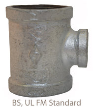 Load image into Gallery viewer, Fig 130r-MI Fittings 2 Way Reducing Galvanized Tee